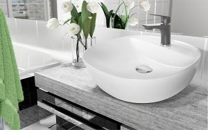 Zestawienie bieli z grafitem tworzy niesamowity klimat w łazience!