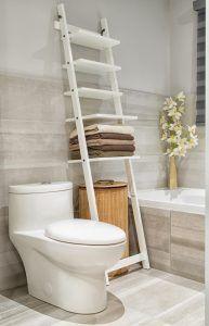 Półka stylizowana na drabinę idealna na akcesoria łazienkowe!