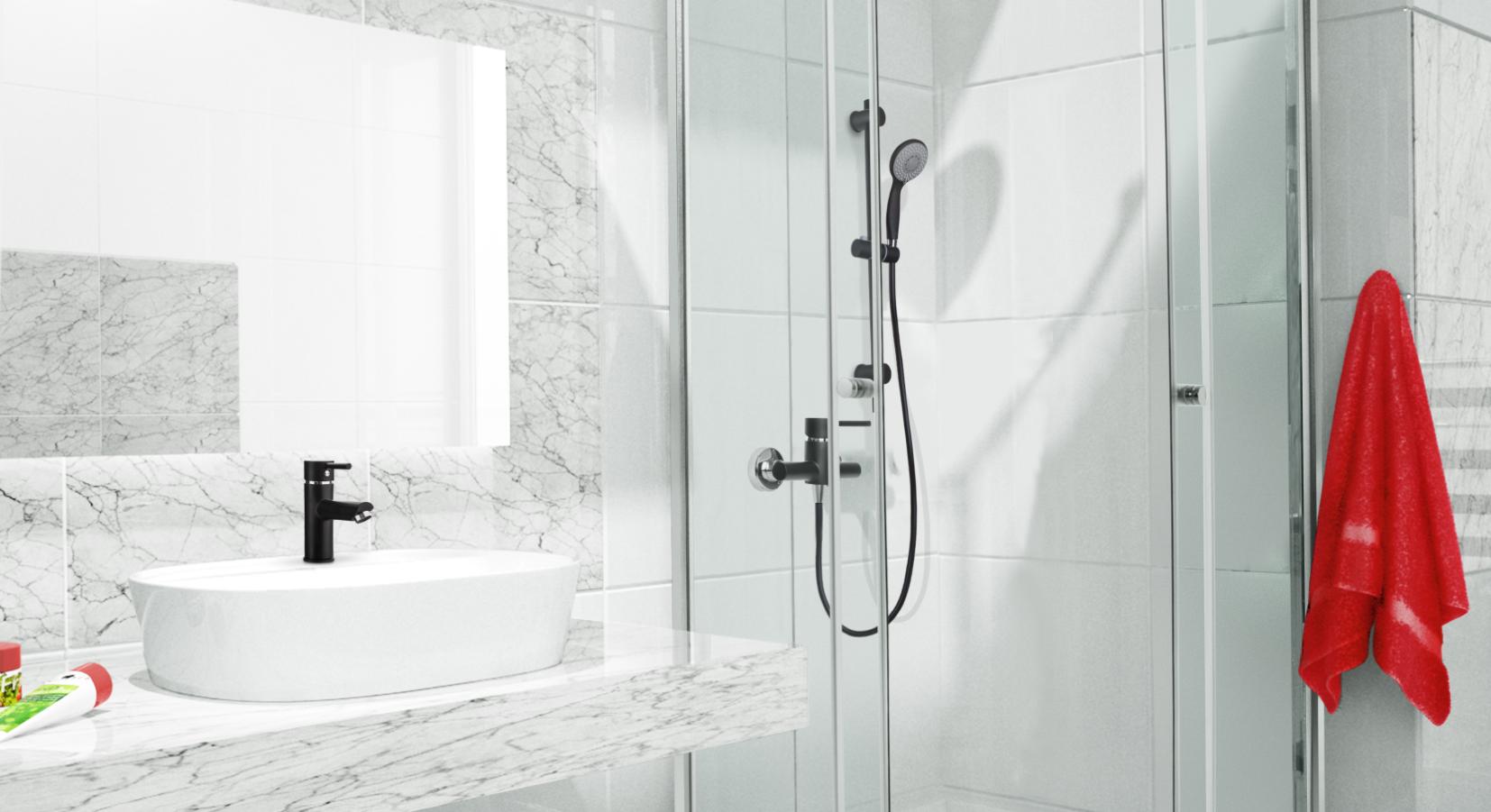 Pielęgnacja czarnych baterii łazienkowych jest tak samo prosta jak kranów w kolorze chromu!